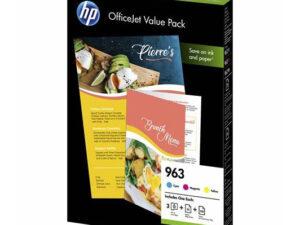 HP 6JR42AE Patron C/M/Y No.963 + A4 Papír