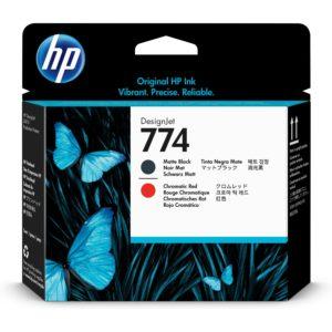 HP P2V97A Pr.head Bk/Chromatic Red No.774 (Eredeti)