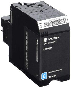 Lexmark CS/CX727/CS728 Toner Cyan 10K (Eredeti) 75B0020