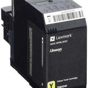 Lexmark CS/CX727/CS728 Toner Yellow 10K (Eredeti) 75B0040