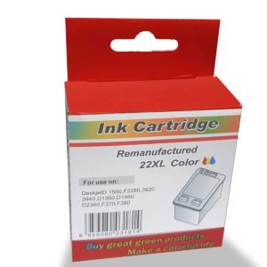 HP C9352A Color WHITE BOX No.22XL (For Use)