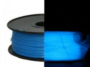 3D FILAMENT CM 1,75 mm PLA sötétben világító Glow-in-Dark kék 1000g 1kg