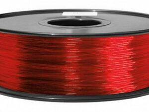 3D FILAMENT CM 1,75 mm TPU rubber gumi átlátszó piros 800g