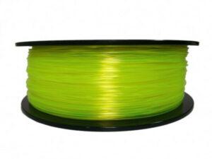 3D FILAMENT CM 1,75 mm TPU rubber gumi átlátszó sárga 800g
