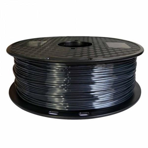 3D FILAMENT CM 1,75 mm polymer silk selyem fekete 1000g 1kg