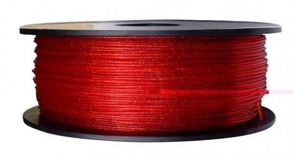 3D FILAMENT CM 1,75 mm PLA csillogó átlatszó piros 1000g 1kg