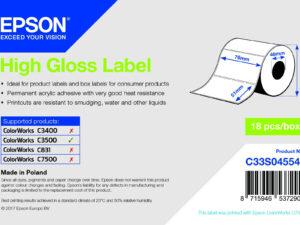Epson 76mm*51mm, 650 matt inkjet címke