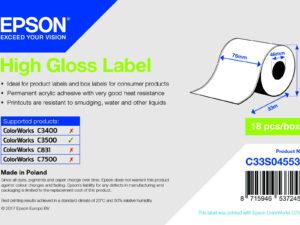 Epson 76mm*33m inkjet címke