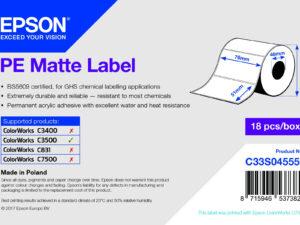 Epson 76mm*51mm, 535 matt inkjet címke