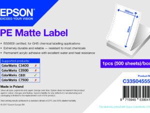 Epson 203mm*305mm, 500 inkjet címke