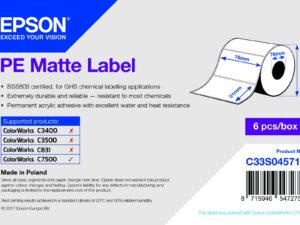 Epson 76mm x 51mm, 2310 matt címke