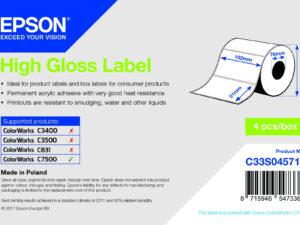 Epson 102mm x 51mm, 2310 magasfényű címke