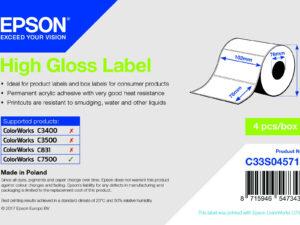 Epson 102mm x 76mm, 1570 magasfényű címke