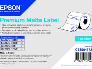 Epson 102mm*76mm, 1570 inkjet címke