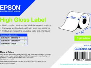 Epson 102mm X 58m high gloss címke