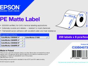 Epson 105mm X 210mm 259 matt címke