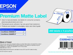 Epson 210mm x 297 mm 200 matt címke