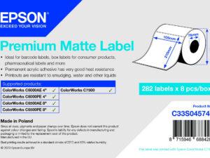 Epson 105mm X 210mm 282 matt címke