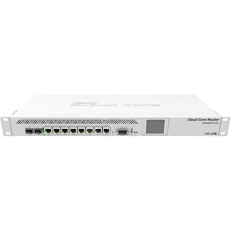 MikroTik CCR1009-7G-1C-1S+ 7port GbE 1xSFP/RJ45 combo 1xSFP+ 9magos CPU Cloud Core Router