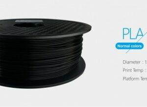 3D FILAMENT 1,75mm PLA Fekete /1kg-os tekercs/