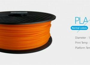 3D FILAMENT 1,75mm PLA Narancssárga /1kg-os tekercs/