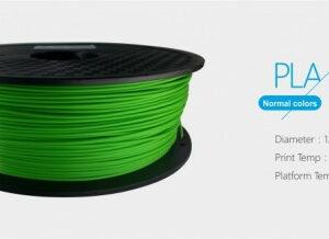 3D FILAMENT 1,75mm PLA Zöld /1kg-os tekercs/