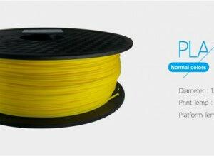 3D FILAMENT 1,75mm PLA Sárga /1kg-os tekercs/