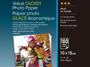 Epson 10x15 Gazdaságos Fényes Papír 100Lapos 183g