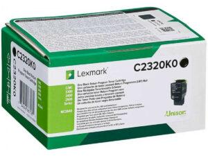 Lexmark C2320K0 Bk toner 1k /o/