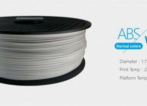 3D FILAMENT 1,75mm ABS Fehér (1kg-os tekercs)