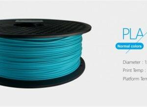 3D FILAMENT 1,75mm PLA Ég kék /1kg-os tekercs/