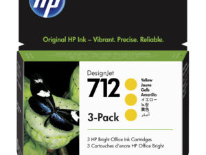 HP 3ED79A Patron 3Pack Yellow 29ml No.712 (Eredeti)