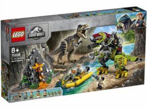 LEGO Jurassic World TRex és DinoMech csatája