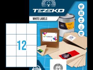 Tezeko négyszög 70 x 74 címke