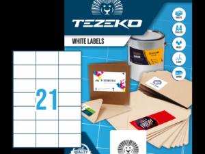 Tezeko négyszög 70 x 42,3 címke