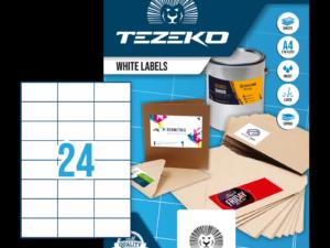 Tezeko négyszög 70 x 37 címke