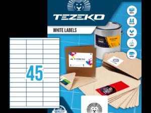 Tezeko négyszög 70 x 20 címke