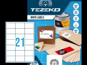 Tezeko négyszög 66 x 40 címke