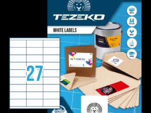 Tezeko négyszög 70 x 31 címke