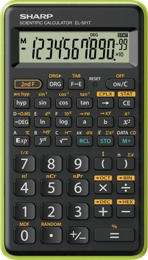 Sharp EL501TBGR számológép (Zöld)