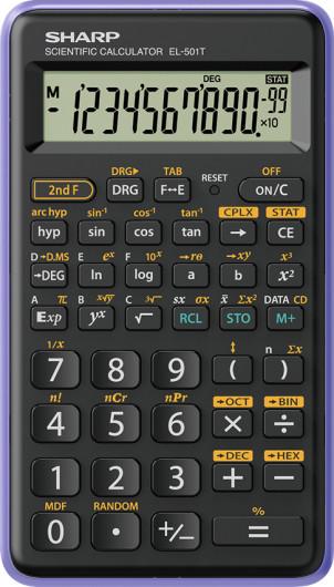Sharp EL501TBVL számológép (Lila)