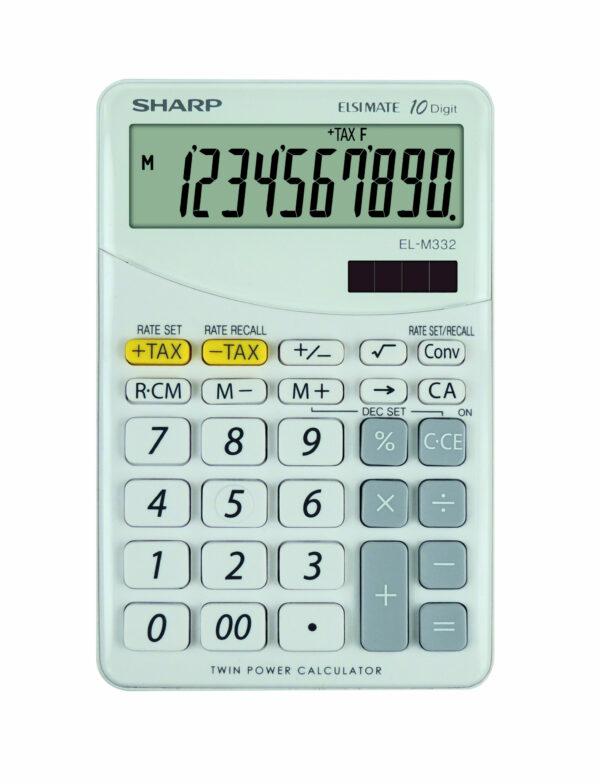 Sharp ELM332BWH számológép fehér