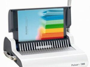 FELLOWES Spirálozógép, műanyag spirálkötéshez, manuális, 300 lap,  Pulsar+