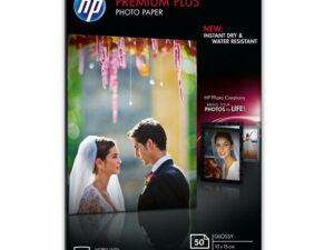 HP 10x15 Prémium Plus Fényes Fotópapír 50lap 300g (Eredeti)