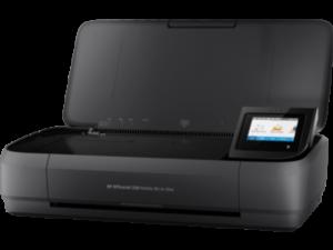 HP OfficeJet 250 A4 színes tintasugaras multifunkciós hordozható nyomtató fekete