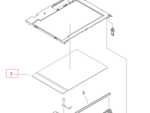 CA FL2-5621 Copy Board Glass Assembly MF4270